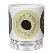 Creative Bath Dot Swirl Waste Basket; Citron