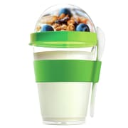 AdNArt 12 oz. Yogurt Cup Storage Container with Spoon; Green