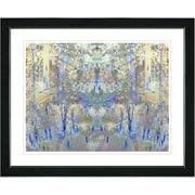 Studio Works Modern ''Summer Land - Blue'' by Zhee Singer Framed Graphic Art in Blue; Satin Black