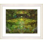 Studio Works Modern ''Voice in Green'' by Zhee Singer Framed Painting Print; Creamy White