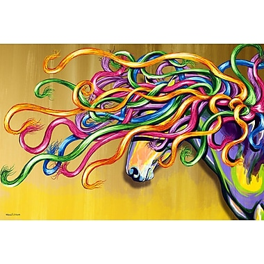 Maxwell Dickson ''Majestic Horse'' Graphic Art on Canvas; 36'' H x 48'' W