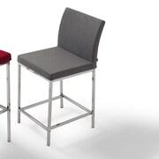 B&T Design Paria 29'' Bar Stool with Cushion; White