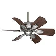 Casablanca Fan 31'' Wailea 6 Blade Ceiling Fan; Brushed Nickel with Dark Walnut