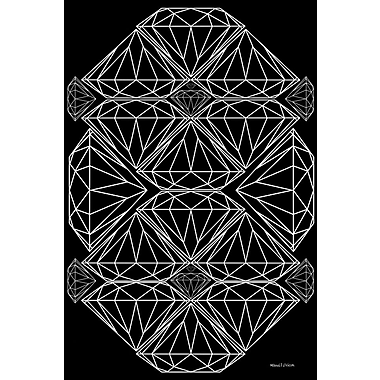 Maxwell Dickson ''Diamonds'' Graphic Art on Canvas; 60'' H x 40'' W
