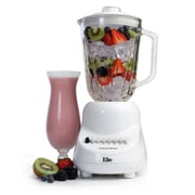 Elite by Maxi-Matic Gourmet 10-Speed Blender with 48 oz. Glass Jar; White