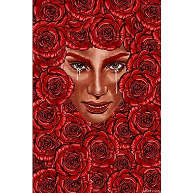 Maxwell Dickson ''Bed of Roses'' Graphic Art on Canvas; 40'' H x 60'' W
