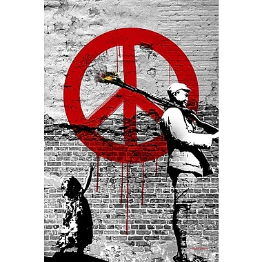 Maxwell Dickson Time 4 Peace Original Graphic Art on Wrapped Canvas; 30'' H x 20'' W