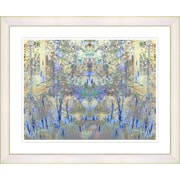 Studio Works Modern ''Summer Land - Blue'' by Zhee Singer Framed Graphic Art in Blue; Creamy White