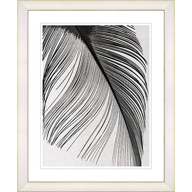 Studio Works Modern ''Feather'' by Zhee Singer Framed Painting Print; Creamy White