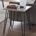 Altra Owen Retro End Table; Sonoma Oak