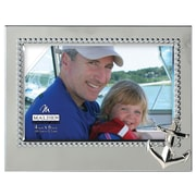 Malden 4'' x 6'' Anchor Beaded Metal Picture Frame