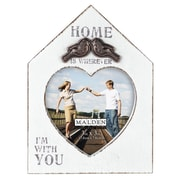 Malden 4'' x 4'' Home Is Wherever/With You Picture Frame