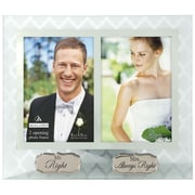 Malden 2 Opening 4'' x 6'' Mr and Mrs. Right Glass Picture Frame