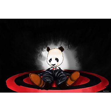 Maxwell Dickson ''Panda'' Graphic Art on Canvas; 20'' H x 30'' W