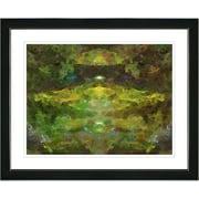 Studio Works Modern ''Voice in Green'' by Zhee Singer Framed Painting Print; Satin Black