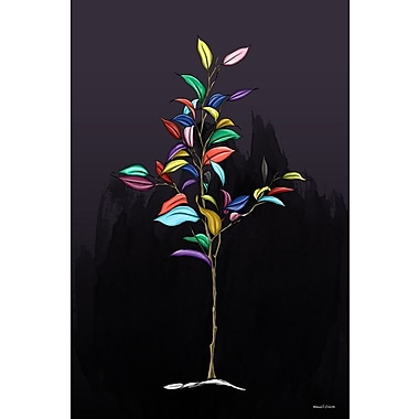 Maxwell Dickson ''Tree of Color'' Graphic Art on Canvas; 30'' H x 20'' W