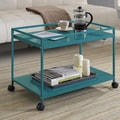 Altra Marshall Coffee Table Cart; Teal