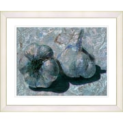Studio Works Modern ''Garlic - Blue'' by Zhee Singer Framed Graphic Art in Blue; Creamy White