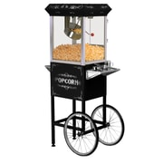 Elite by Maxi-Matic 8 oz. Deluxe Kettle Old Fashioned Popcorn Trolley; Black