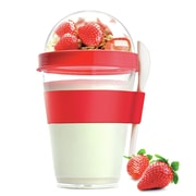 AdNArt 12 Oz. Yogurt Cup Storage Container; Red