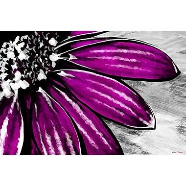 Maxwell Dickson Purple Petals Painting Print on Canvas; 24'' H x 36'' W
