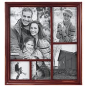Malden 5 Opening Washed Picture Frame; Barn Red