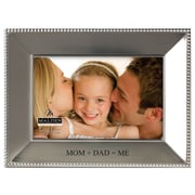 Malden 4'' x 6'' Mom and Dad = Me Beaded Picture Frame