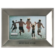 Malden 4'' x 6'' Best Day Ever Beaded Metal Picture Frame