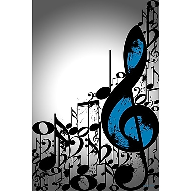 Maxwell Dickson ''Music Notes'' Graphic Art on Canvas; 30'' H x 20'' W