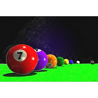 Maxwell Dickson ''Billiard Balls'' Graphic Art on Canvas; 16'' H x 20'' W