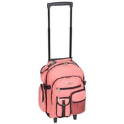 Everest Deluxe Wheeled Backpack; Coral