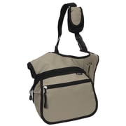 Everest Messenger Bag; Khaki / Black