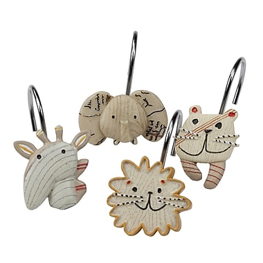 Creative Bath 12 Piece Animal Crackers Hook Set