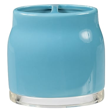 Creative Bath Gem Toothbrush Holder; Turquoise