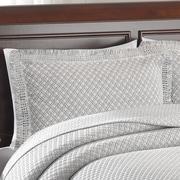 LaMont Woven Jacquard Standard Sham; Grey/White