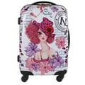 Nicole Lee Nicole Lee Sunny White Rolling Suitcase