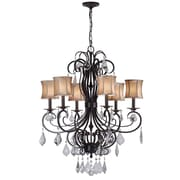 World Imports Lighting Annelise 6 Light Crystal Chandelier