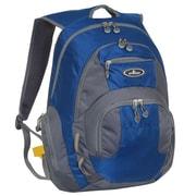 Everest Deluxe Traveler's Laptop Backpack; Blue / Grey
