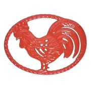 Chasseur Chasseur French Cast Iron Rooster Trivet; Flame Red