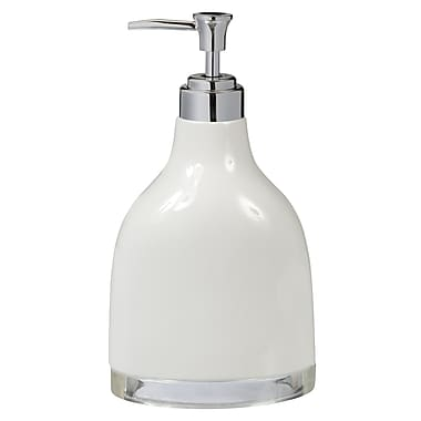Creative Bath Gem Lotion Dispenser; White