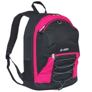Everest Two-Tone Backpack with Mesh Pockets; Hot Pink / Black
