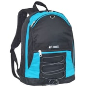 Everest Two-Tone Backpack with Mesh Pockets; Turquoise / Black