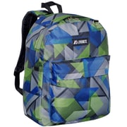 Everest Classic Backpack; Blue and Green