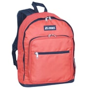Everest Standard Backpack; Rust Orange / Black