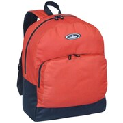 Everest Classic Backpack with Front Organizer; Rust Orange / Black