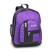 Everest Double Main Compartment Backpack; Dark Purple / Black