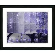 Studio Works Modern ''Urban Puzzle - Blue'' by Zhee Singer Framed Graphic Art; Satin Black