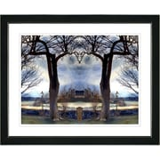 Studio Works Modern ''Homestead - Blue'' by Mia Singer Framed Graphic Art; Satin Black