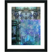Studio Works Modern ''Bustle - Blue'' by Zhee Singer Framed Graphic Art in Blue; Satin Black