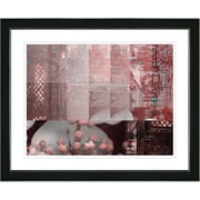 Studio Works Modern ''Urban Puzzle - Red'' by Zhee Singer Framed Painting Print; Satin Black
